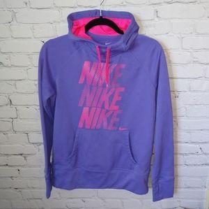 Nike Therma-Fit Purple & Pink Funnel Neck Hoodie